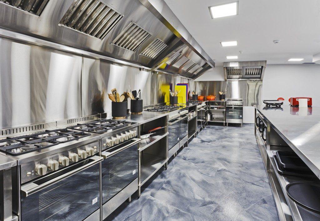 Clean kitchen restaurant