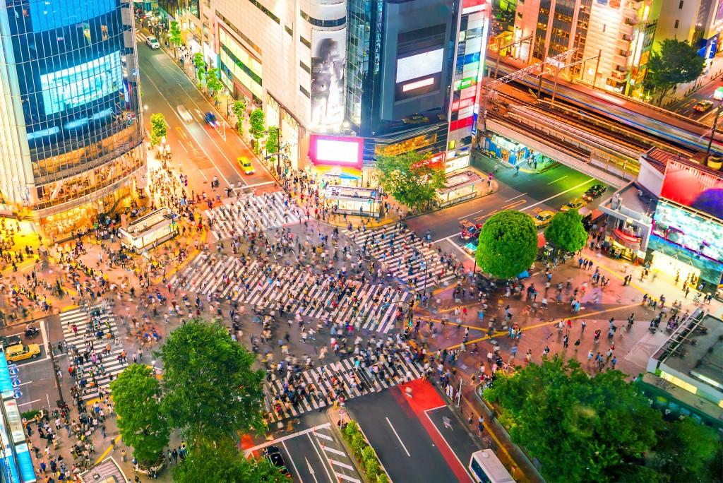 busy tokyo street