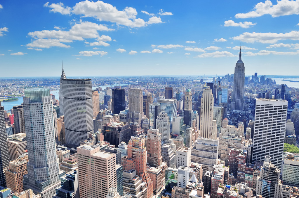 new york city overhead view