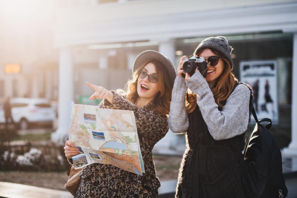two tourists